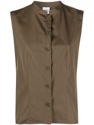 Рубашка с воротником-стойкой Aspesi. Цвет: зеленый