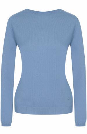 Кашемировый пуловер с V-образным вырезом на спинке Nina Ricci. Цвет: голубой