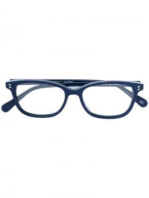 Очки в оправе овальной формы Stella Mccartney Eyewear. Цвет: синий