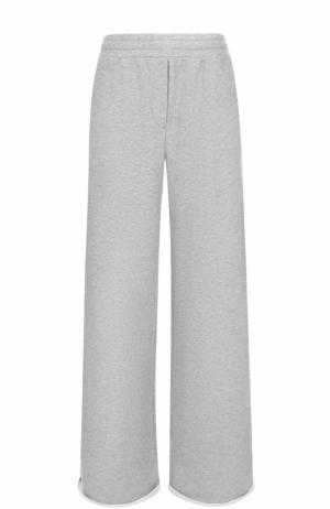Расклешенный хлопковые брюки alexanderwang.t. Цвет: серый