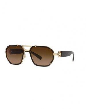 Солнечные очки VERSACE. Цвет: темно-коричневый