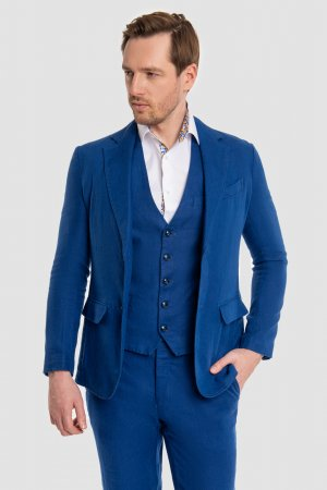 Костюмный пиджак приталенный изо льна KANZLER