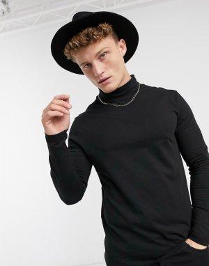 Черная шляпа-федора -Черный Jack & Jones