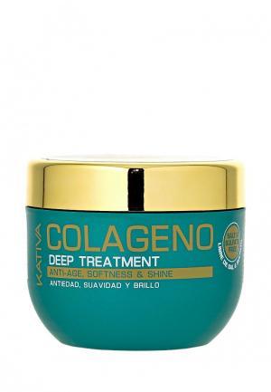 Маска для волос Kativa COLLAGENO Интенсивный коллагеновый 250 мл. Цвет: белый