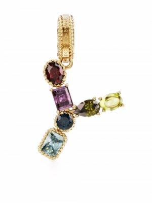Подвеска V из желтого золота с камнями Dolce & Gabbana. Цвет: золотистый