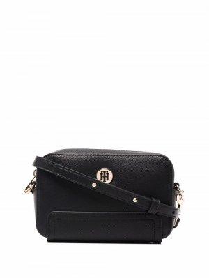 Каркасная сумка Honey Tommy Hilfiger. Цвет: черный