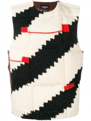 Дутый жилет с вязаным передом Calvin Klein 205W39nyc. Цвет: черный