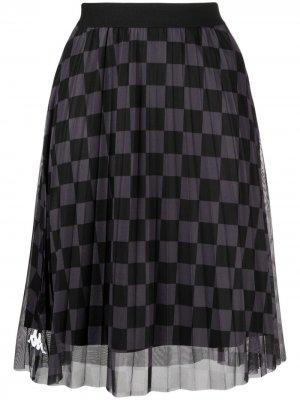 Сетчатая юбка с геометричным принтом Kappa. Цвет: черный