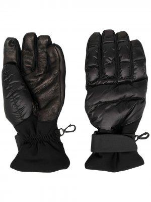 Дутые перчатки Moncler Grenoble. Цвет: черный
