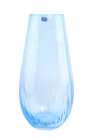 Ваза BOHEMIA CRYSTAL. Цвет: голубой
