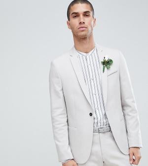 Узкий свадебный пиджак -Серый Noak