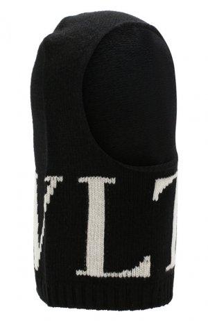 Балаклава из смеси шерсти и кашемира VLTN Valentino. Цвет: чёрно-белый