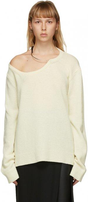 Off-White Wool Choker Sweater Ann Demeulemeester. Цвет: 049 khaki