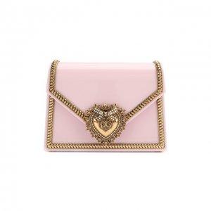 Сумка Devotion small Dolce & Gabbana. Цвет: розовый