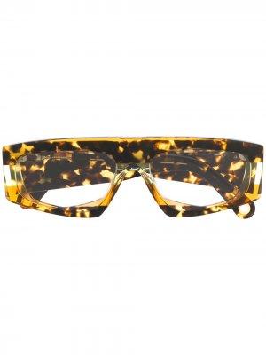 Солнцезащитные очки Yauco Jacquemus. Цвет: коричневый