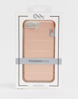 Золотисто-розовый твердый чехол для iphone 7+/6/6s + Case-mate