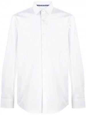 Рубашка узкого кроя BOSS. Цвет: белый