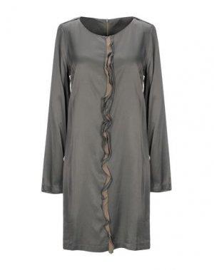 Короткое платье DOUUOD. Цвет: свинцово-серый