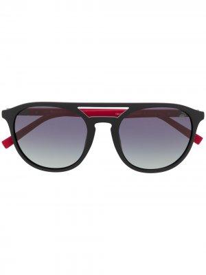 Солнцезащитные очки с затемненными линзами Timberland. Цвет: черный