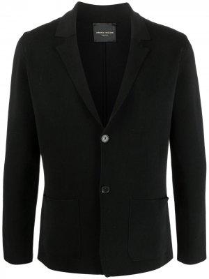 Однобортный пиджак Roberto Collina. Цвет: черный