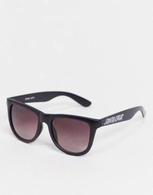Черные контрастные солнцезащитные очки -Черный Santa Cruz