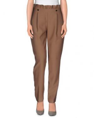 Повседневные брюки BONSUI. Цвет: хаки