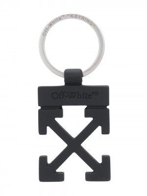Брелок с логотипом Off-White. Цвет: черный