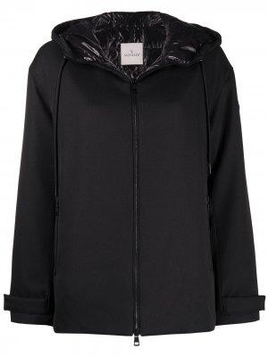 Куртка на молнии с капюшоном Moncler. Цвет: черный