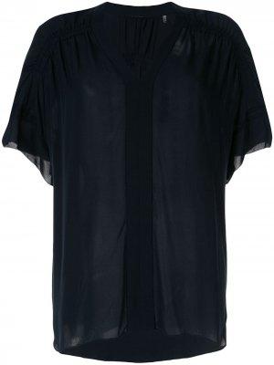 Блузка Evlin Elie Tahari. Цвет: синий