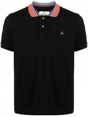 Рубашка поло с вышивкой Orb Vivienne Westwood. Цвет: черный