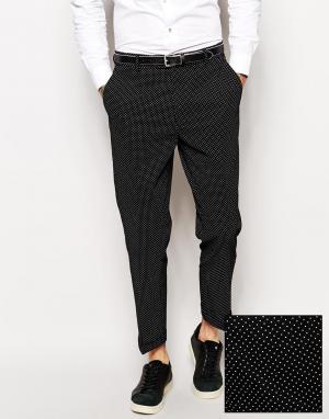 Классические брюки слим в горошек ASOS