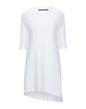 Короткое платье ENZA COSTA. Цвет: белый