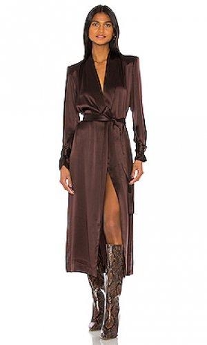 Пальто pascal Amanda Uprichard. Цвет: шоколадный
