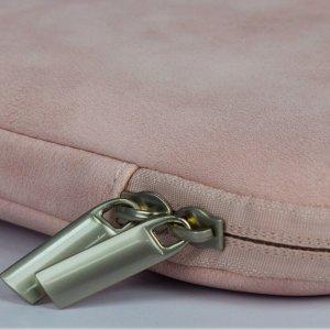 14-дюймовая сумка для ноутбука из искусственной кожи SHEIN. Цвет: розовые