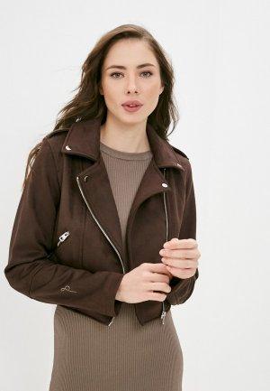 Куртка кожаная Befree. Цвет: коричневый