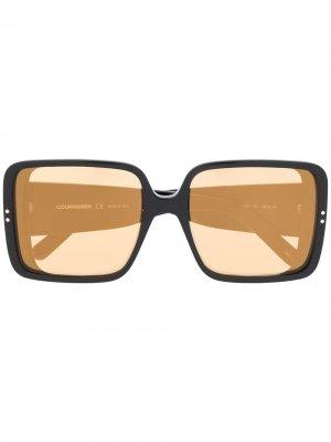 Солнцезащитные очки в массивной оправе Courrèges Eyewear. Цвет: черный