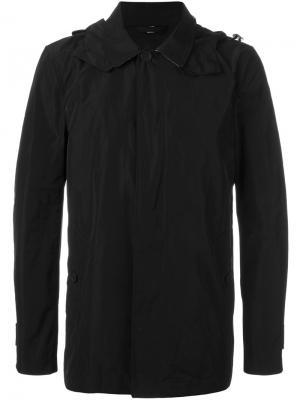 Пальто с капюшоном Burberry. Цвет: черный