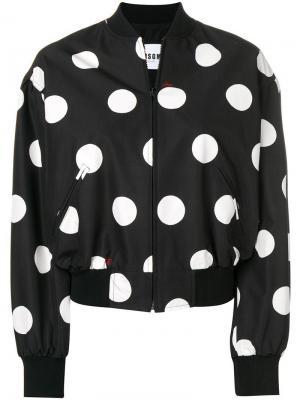 Куртка-бомбер в горох MSGM. Цвет: черный