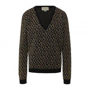 Шерстяной пуловер Gucci. Цвет: чёрный