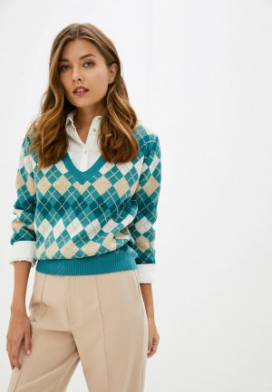 Пуловер Care of You. Цвет: бирюзовый