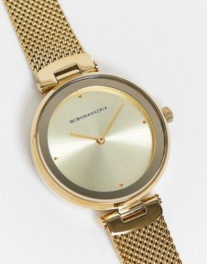 Часы с сетчатым ремешком BCBG Generation-Золотистый Max Azria