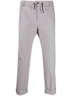 Укороченные брюки в клетку Daniele Alessandrini. Цвет: синий