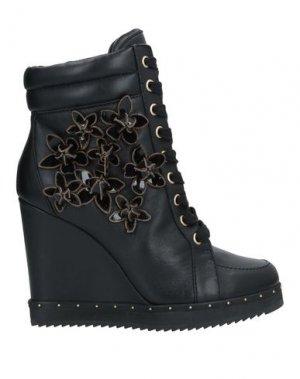 Полусапоги и высокие ботинки DSQUARED2. Цвет: черный