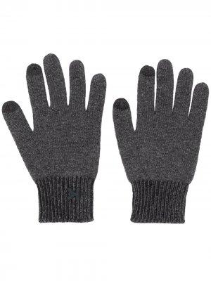 Перчатки с нашивкой-логотипом Kenzo. Цвет: черный