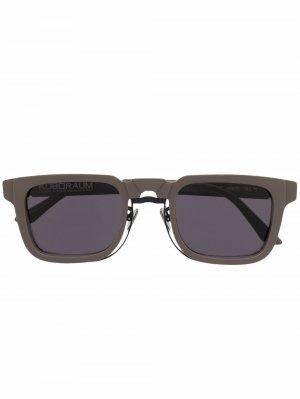 Солнцезащитные очки N4 в прямоугольной оправе Kuboraum. Цвет: серый