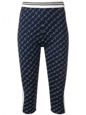 Велосипедные шорты с логотипом Stella McCartney. Цвет: синий