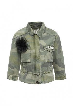 Куртка Only. Цвет: хаки