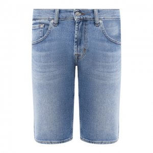 Джинсовые шорты 7 For All Mankind. Цвет: синий