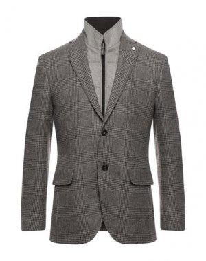 Пиджак LUIGI BIANCHI Mantova. Цвет: темно-коричневый