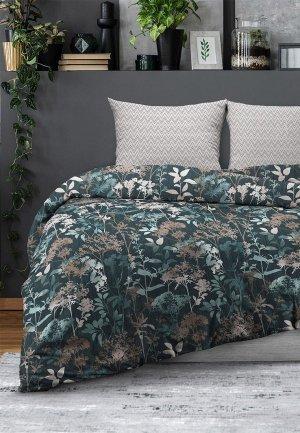 Постельное белье 2-спальное Унисон. Цвет: зеленый